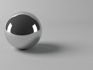 Shiny metal ball