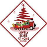 Lovely elves christmas signal poster