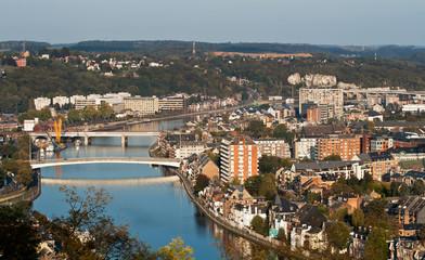 Aerial view of european city