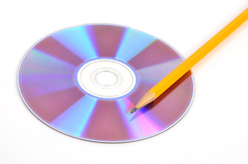 DVD and pencil