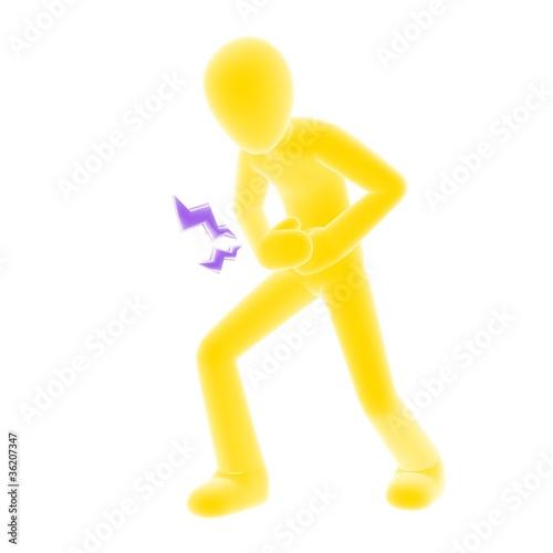 stomachache yellow