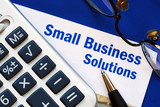 Provide financial solutions and support to Small Business poster