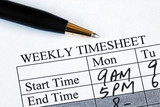 Enter the weekly time sheet concepts of work hours reporting poster
