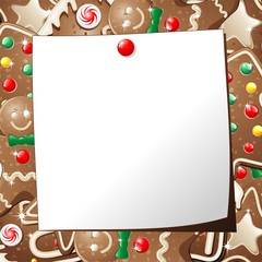 Natale Biscotti Auguri-Gingerbread Cookies Background