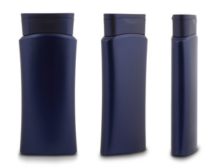 Blue Shower Gel Bottle - 3 Different Angles