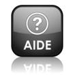 """Bouton Web """"AIDE"""" (service clients support assistance dépannage)"""
