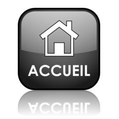 """Bouton Web """"ACCUEIL"""" (page d'accueil bienvenue site internet)"""
