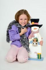 Girl with Snowmann 1