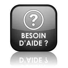 """Bouton """"BESOIN D'AIDE?"""" (service clients support assistance sos)"""