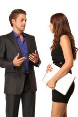 Geschäftspartner diskutieren