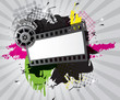 Movie background with film strip