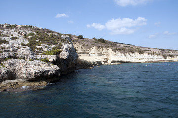 rocks and beach on Malta