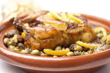 Moroccan dish with chicken and lemon