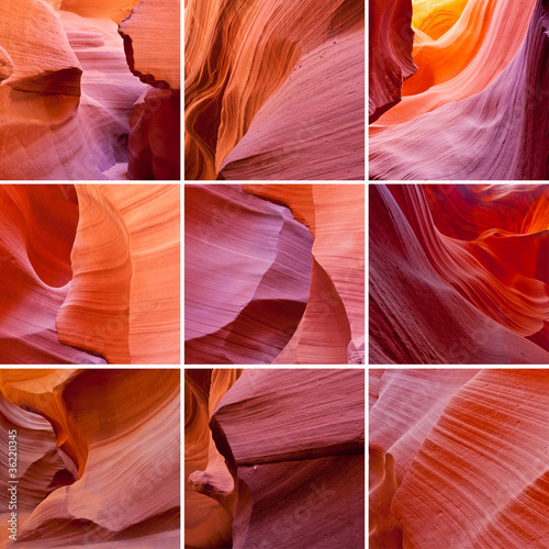 Antelope Canyon collage
