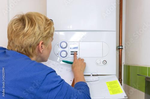 plumber gas boiler - 36221194