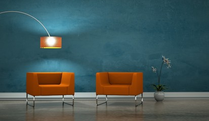 Wohndesign - Sessel orange