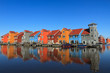 Dutch houses at the water