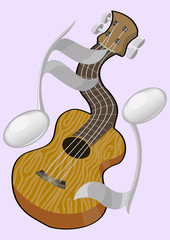 guitar and partitur icon