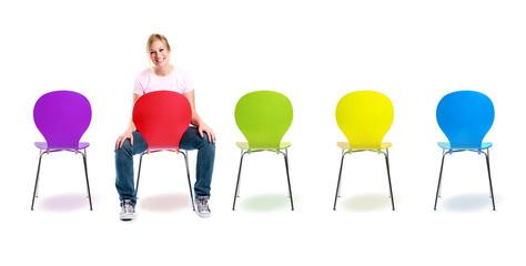 Bunte Möbel für moderne Menschen