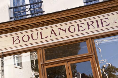 Tuinposter Bakkerij Vitrine de boulangerie - Paris, France
