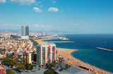 Arieal view of beaches of Barcelona
