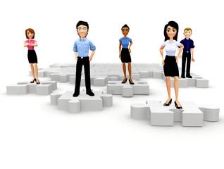 3D business puzzle