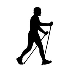 nordic walking (with clipping path)