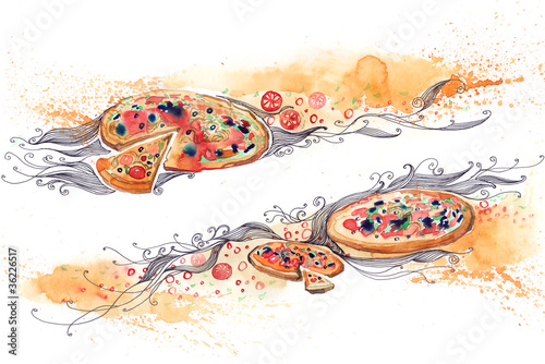 italian pizza banner (series C)