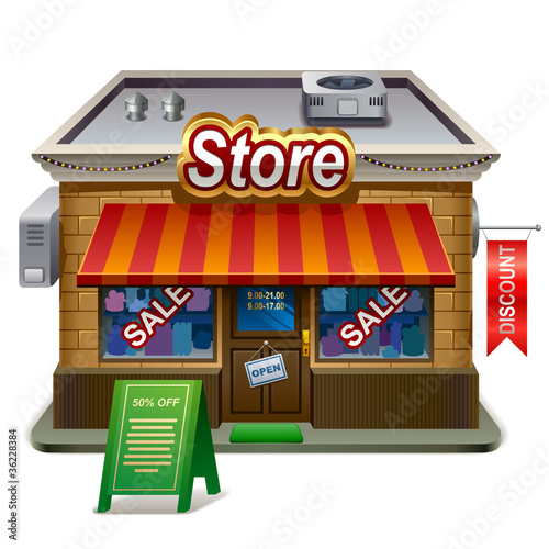 illustration of store