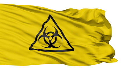 Fluttering Yellow Flag Biohazard Warning,seamless looping