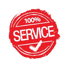 Service Stempel Rot