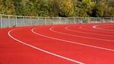 Male sprinter curve poster