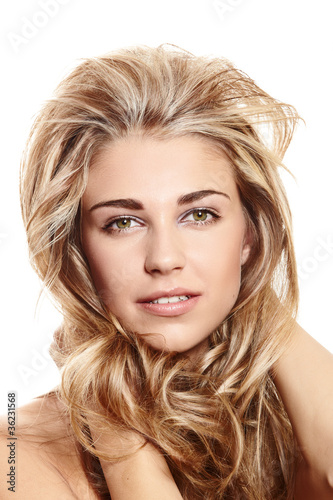 blond woman with long hair