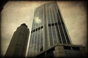 Grattacieli, Londra, texture retro