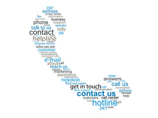 """CONTACT"" Tag Cloud (customer service details hotline phone us)"