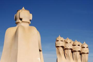 Chimenys of La Pedrera, Barcelona