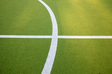Grafischer Mittlkreis Fussballplatz
