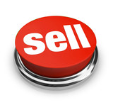 Sell Word on Red Round Button Seller Offers Merchandise for Sale poster
