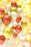 Fototapety flying colorful balloons