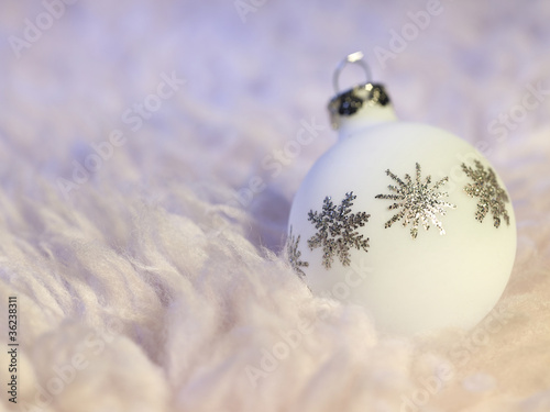white Christmas bauble