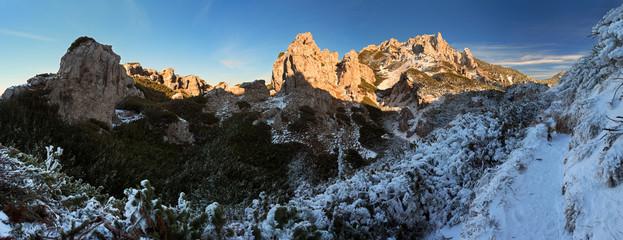 Rocky towny in winter - Sivy vrch -  Tatras - Slovakia