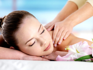 Young woman on massage