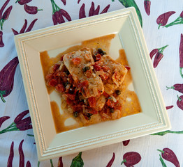cod with tomatoes