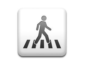 Boton cuadrado blanco paso de peatones