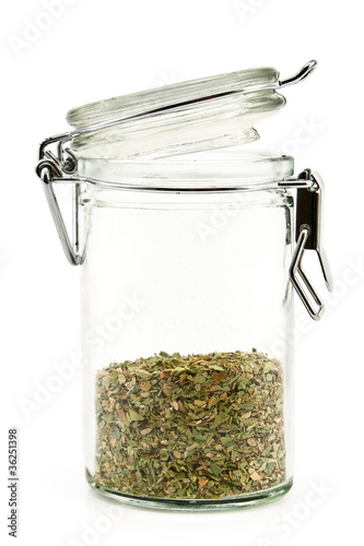 Oregano in jar