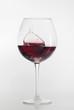 Weinglas spritzend