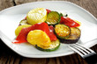 Grilled vegetables with olive oil
