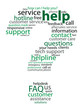 """HELP"" Tag Cloud (question mark support hotline button sos faq)"