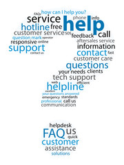 """HELP"" Tag Cloud (question mark support customer service button)"