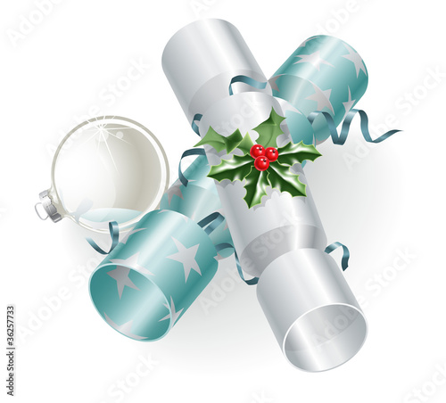 Christmas crackers and decoration